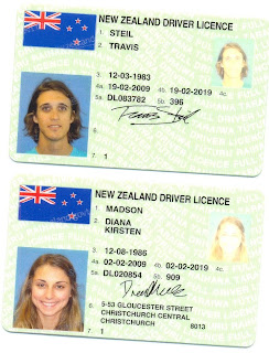 New Zealand: 359 Days of American Occupation: Drivers Licenses