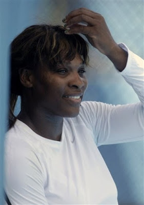 Black Tennis Pro's Serena Williams practicing in Sydney