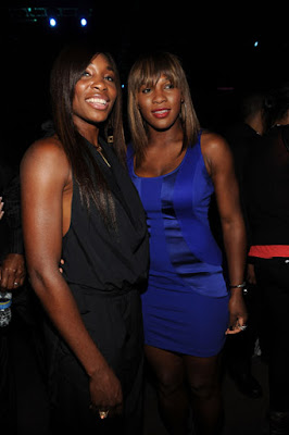 Black Tennis Pro's Venus and Serena At BET/SOS For Haiti