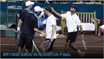 Black Tennis Pro's Bob Bryan, Mike Bryan, James Blake and Mardy Fish Houston Men's Clay Court Doubles