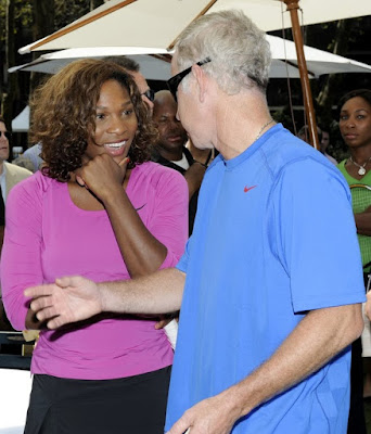 Black Tennis Pro's Serena Williams and John McEnroe DirecTV ESPN U.S. Open Experience