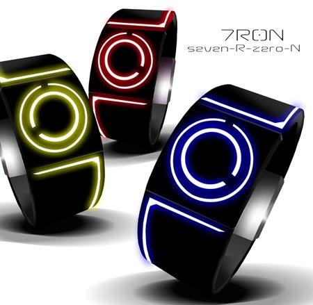 cdb418d46a6f tecnologia fan  Reloj LED inspirado en Tron nuevas tecnologias en ...