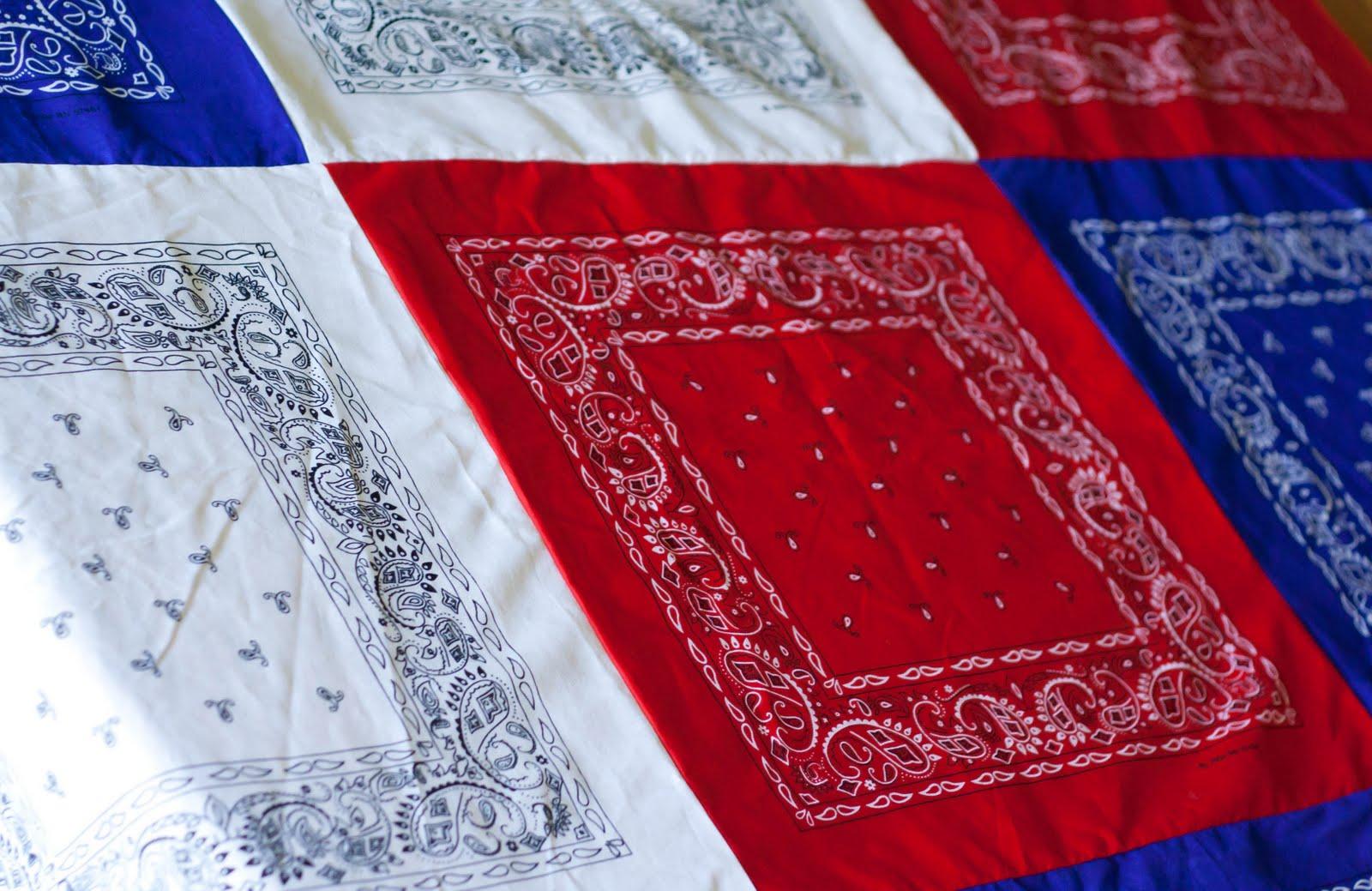 Patriotic Bandana Tablecloth My Insanity