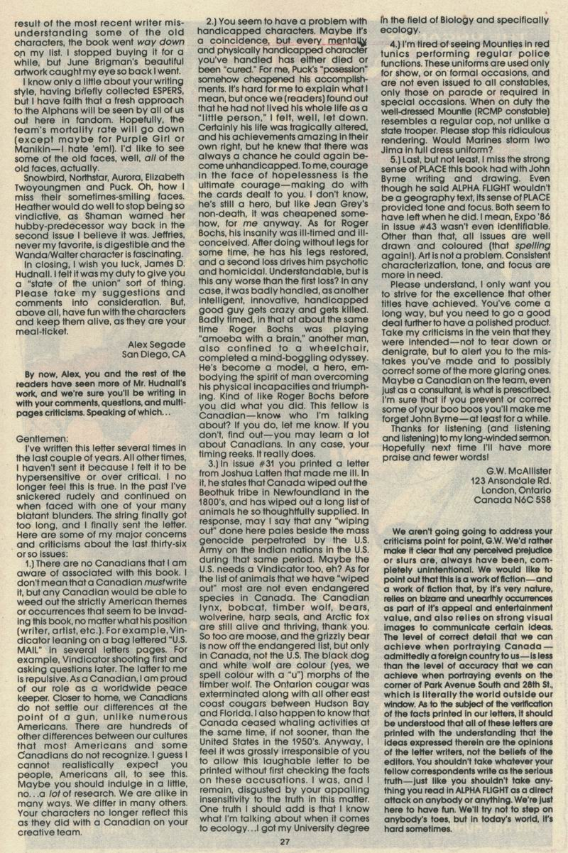 Read online Alpha Flight (1983) comic -  Issue #69 - 29