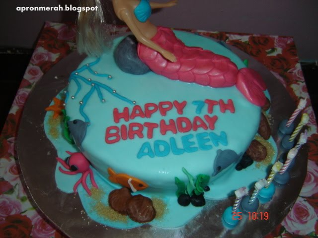 The Red Apron Cakes & Cupcakes: Mermaid Cake - Happy 7th ...