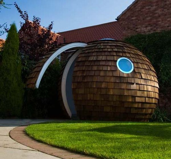 Office in giant ball