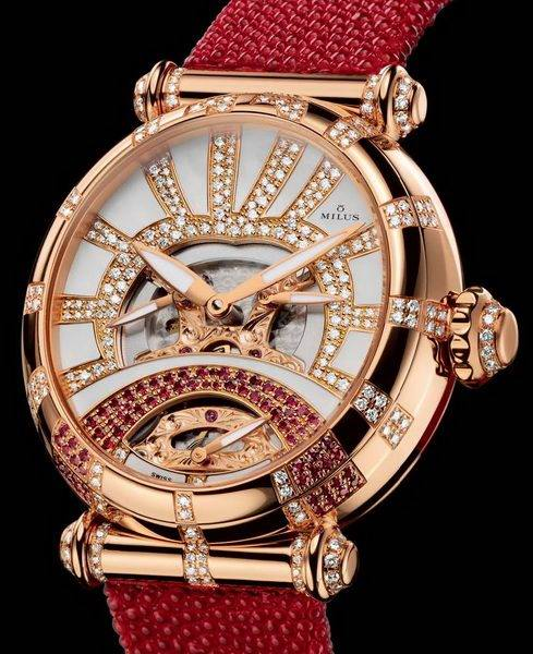 Glamorous business with jewelry and watches