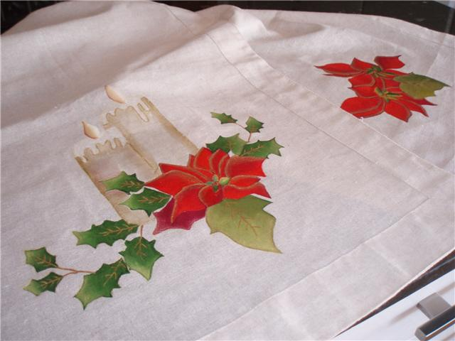 Dibujos para pintar en tela manteles de navidad