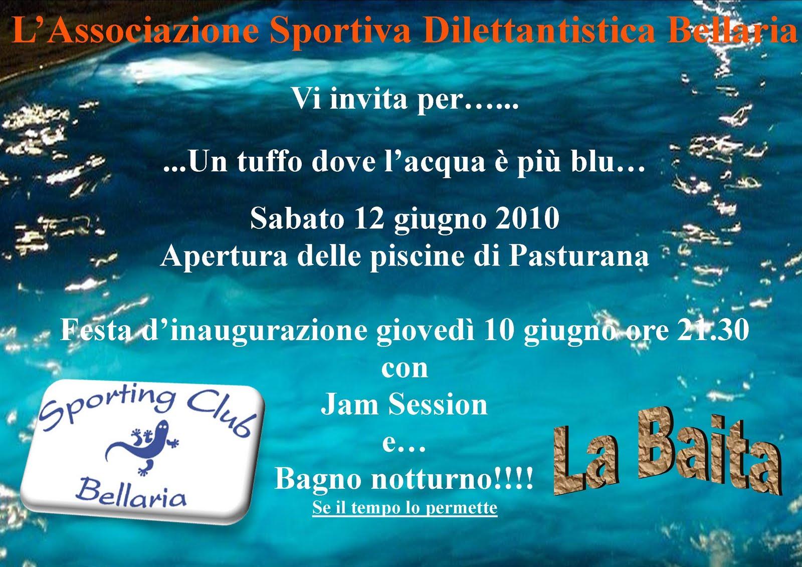 BlogAL Sabato 12 giugno apertura Piscina di Pasturana Sporting Club Bellaria e gioved 10