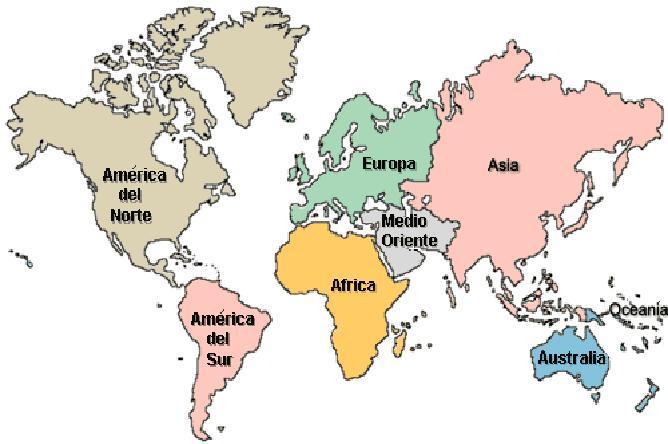 Cuales Son Los 6 Continentes Del Planisferio: Nombre De Los 6 Continentes Del Mundo