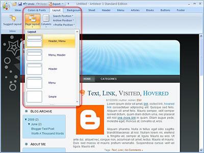 Artisteer - Phần mềm tạo blogger template chuyên nghiệp