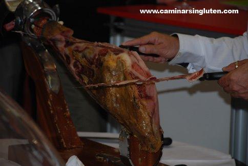 Corte de jamón en Navarra Gourmet 2009