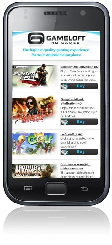 Gameloft apk for android