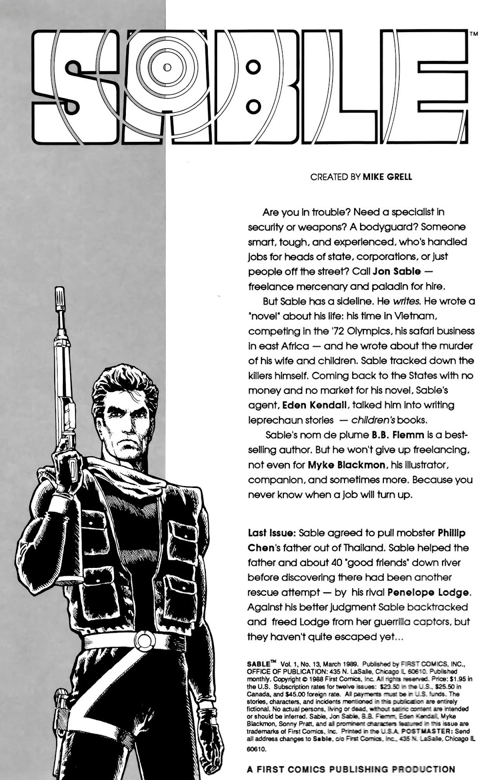 Sable issue 13 - Page 1
