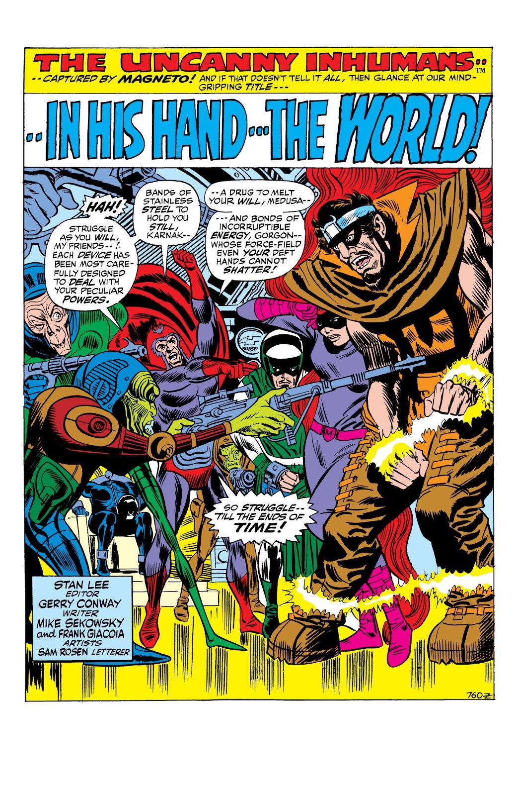 Read online Marvel Masterworks: The Inhumans comic -  Issue # TPB 1 (Part 2) - 79