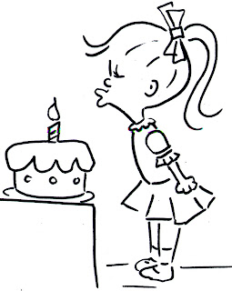 Mom's Coloring Pages: Birthday Coloring Pages: Little Girl
