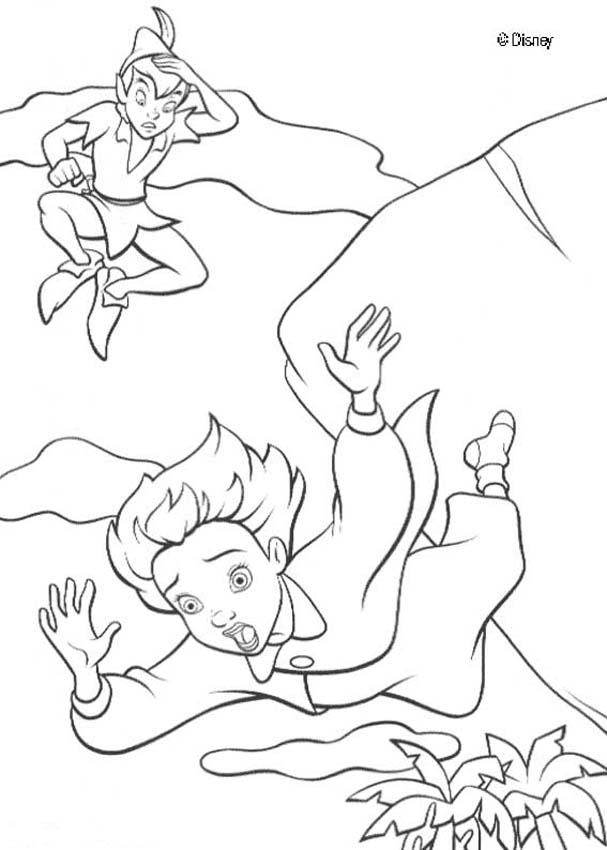 Disney wendy and peterpan coloring