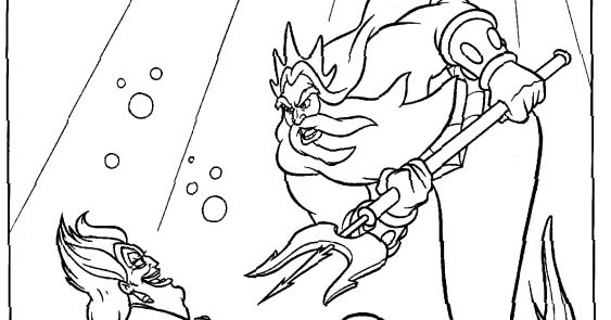 Transmissionpress Disney Litle Mermaid Ursula Coloring Pages