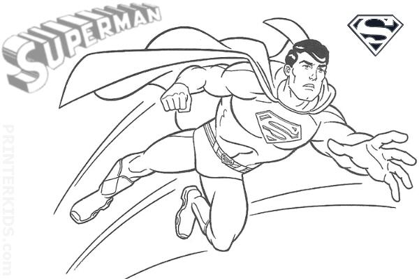 "Free printable Superman "" Super Hero "" Flying Coloring Pages"