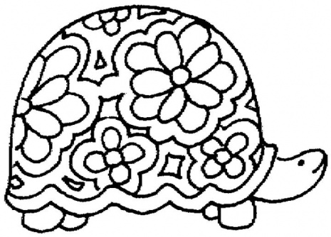 """Free Printable ANimal """" Turtle """" Coloring Pages"""