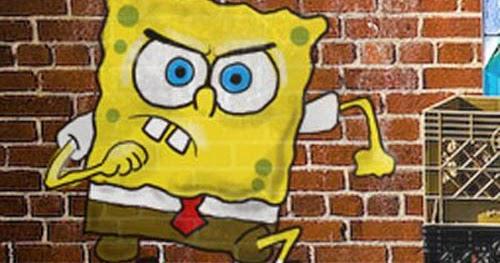 3d P Letter Wallpaper Best Graffiti World Spongebob Squarepant On Graffiti Wall