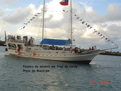 Escuna na praia de Mucuripe - Fortaleza - CE