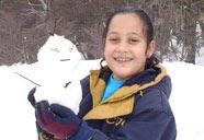 Boneco de neve feito em Bariloche