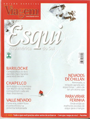 capa da revista especial da Viagem e Turismo sobre esqui na América do Sul.