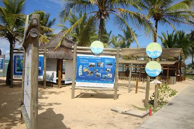 Espaço educativo sobre o ambiente marinho no Arraial d'Ajuda Eco Park