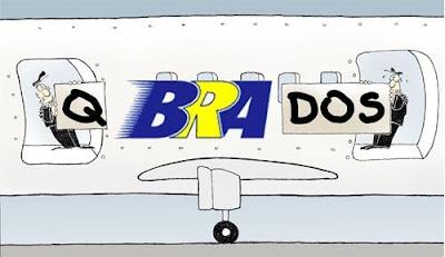 Piada com a empresa aérea BRA