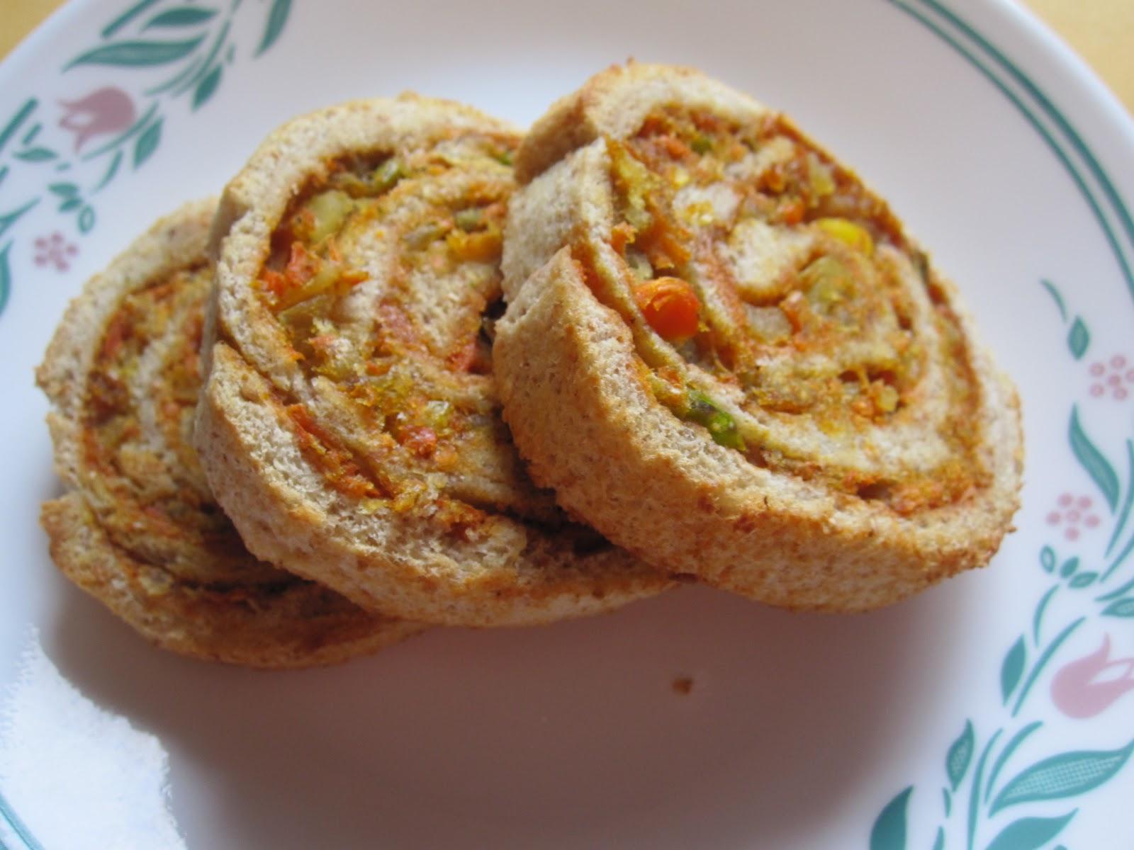 Vegetable Bread Swirls ~ Tamalapaku