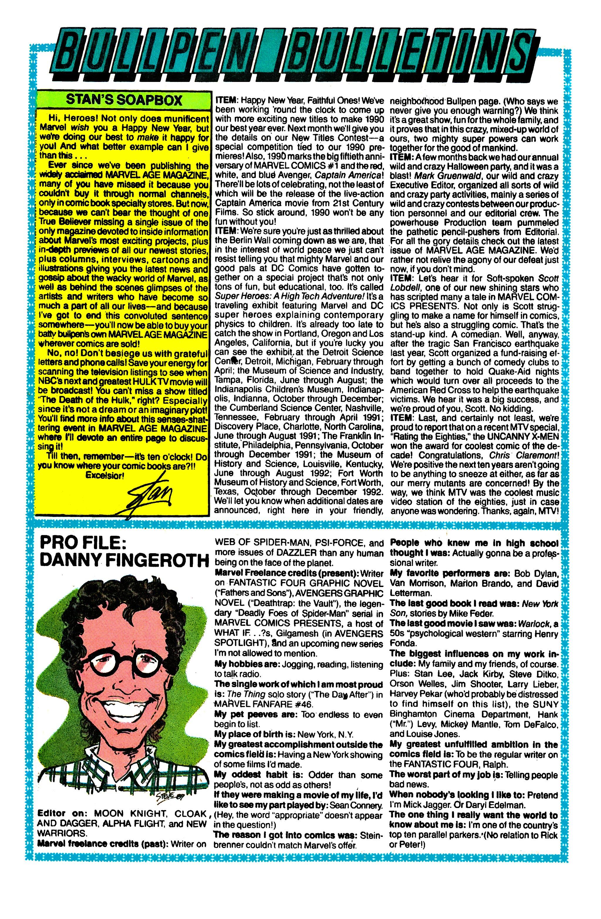 Read online Uncanny X-Men (1963) comic -  Issue #260 - 21