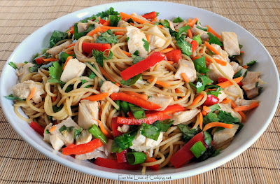 Spicy Sesame Noodles with Roasted Chicken