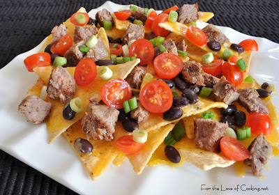 Steak and Black Bean Nachos