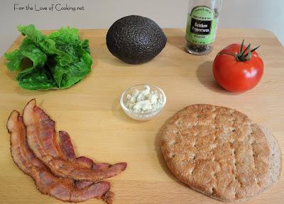 BBLTA - Bacon, Blue Cheese, Lettuce, Tomato and Avocado Sandwich