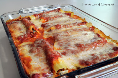 Italian Sausage and Mushroom Stuffed Manicotti