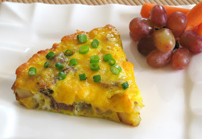 Potato, Turkey Sausage, and Mushroom Frittata