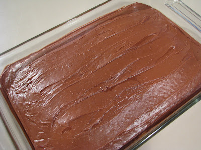 Chocolate Chip Cake with Chocolate Frosting