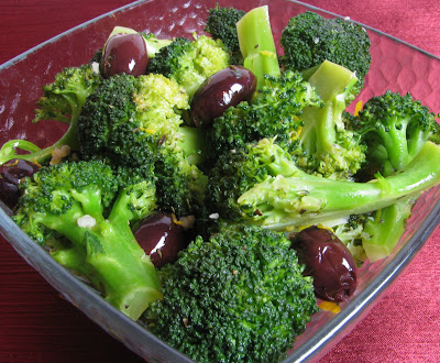 Broccoli with Kalamata Olives, Garlic and Lemon