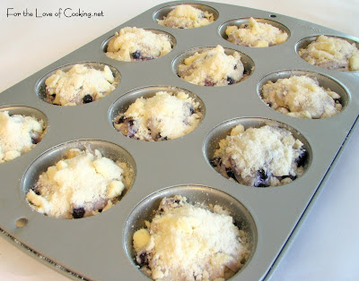 Blueberry Surprise Muffins with Streusal Topping