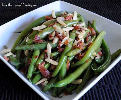 Green Beans with Bacon Balsamic Vinaigrette