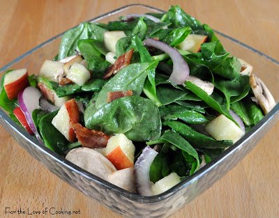 Spinach Salad with Maple-Dijon Vinaigrette