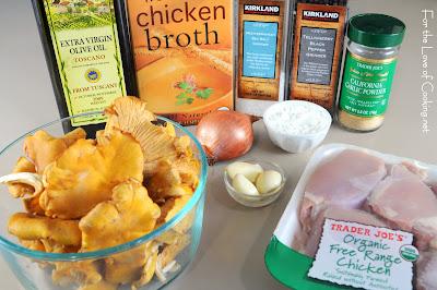 Chicken Thighs with Chanterelle Mushroom Sauce