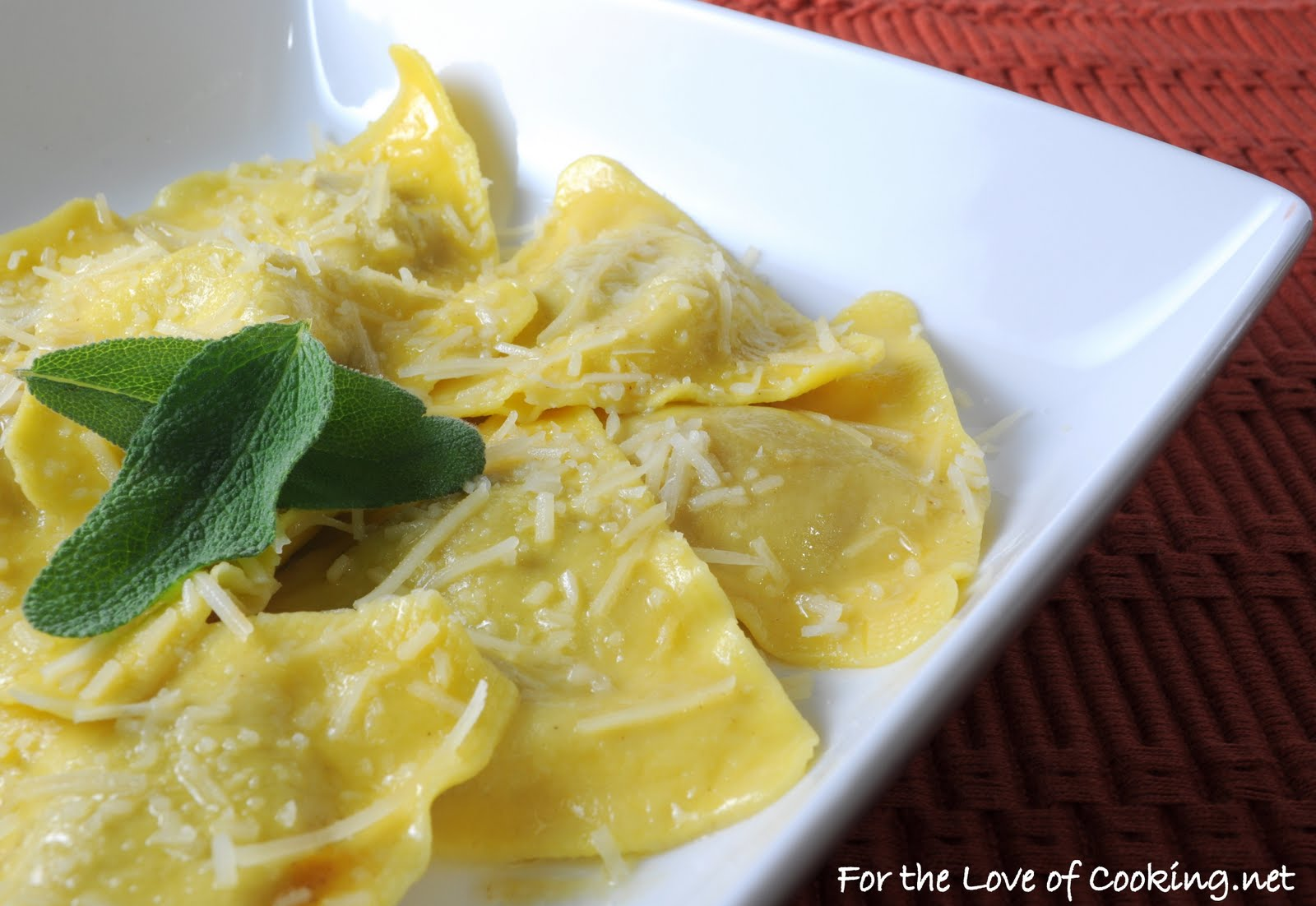 Butternut Squash Ravioli with a Butter Sage Sauce and ...