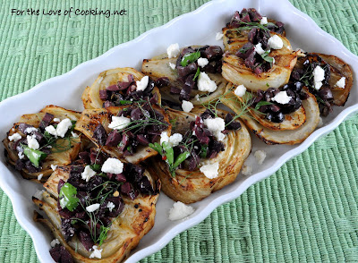 Roasted Fennel with Olive Tapenade and Feta Cheese