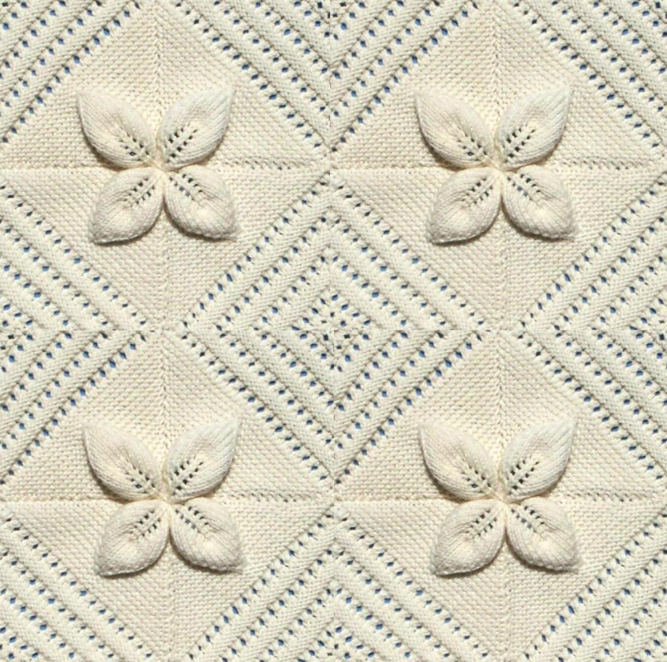 087774a09 Knitted Leaf Pattern Blanket ~ Ipaa.info for .