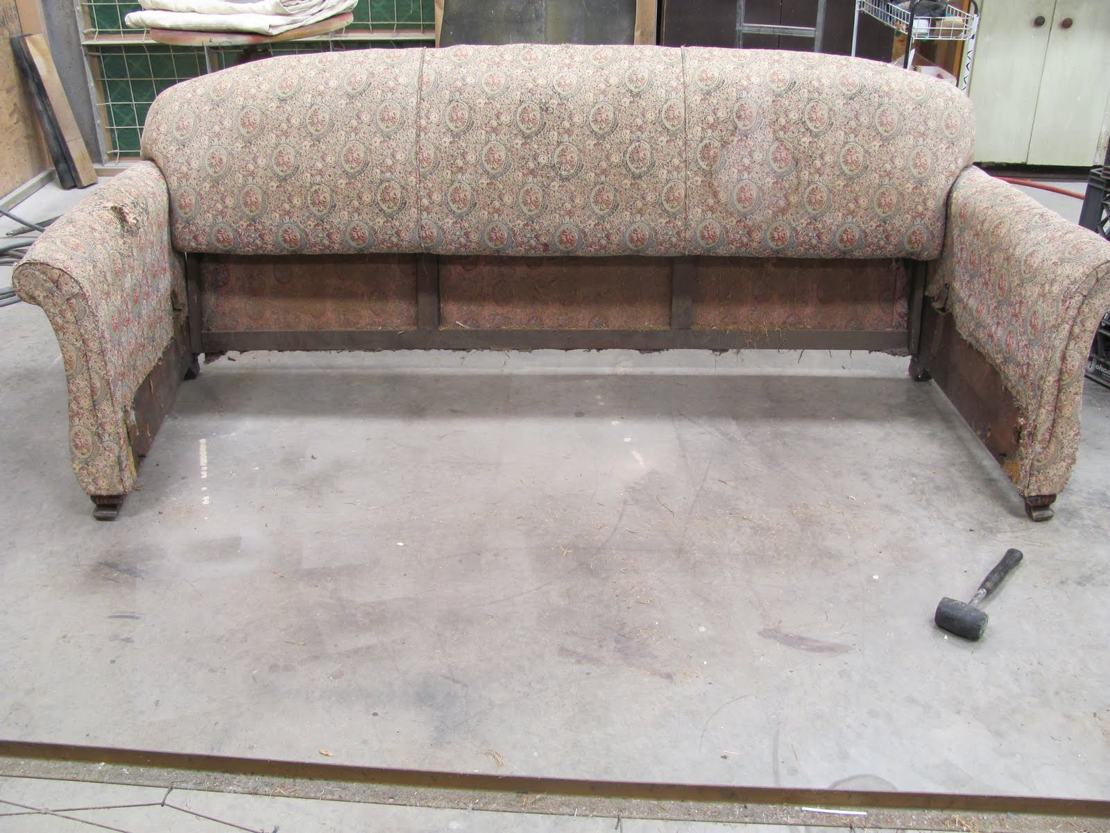 Repair Sofa Wood Frame Minotti Designs Sleeper Thomas Nelson Furniture Restoration