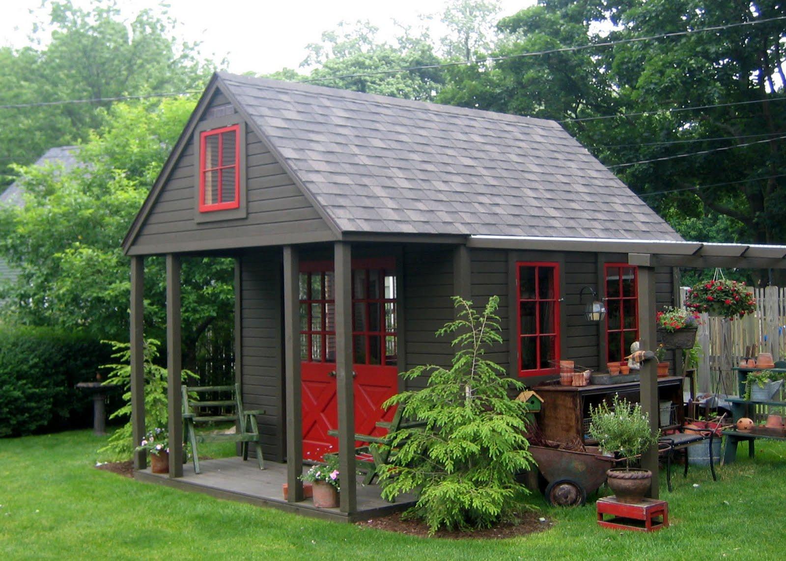 Nappanee Home and Garden Club: GARDEN SHEDS, PORCHES ... on Backyard Retreat Ideas id=96092