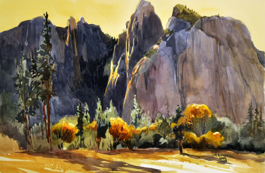 M E Bailey Art Watercolor En Plein Air