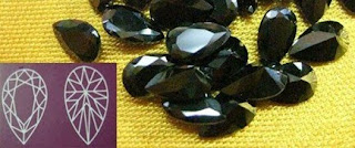 Cubic Zirconia black Pear shape stones China Supplier and Wholesale